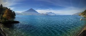 Beautiful Place in the World - Lake Thun in Beatenbucht - Switzerland
