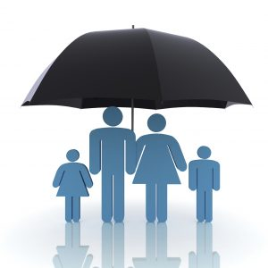 free download insurance icon - family under umbrella
