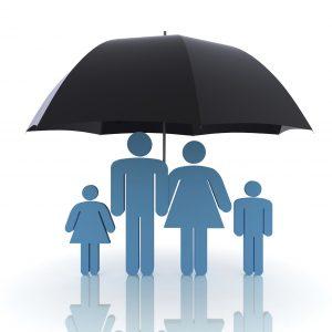 free download insurance icon - family under umbrella