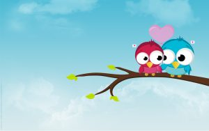 Attachment for 37 Cute Stuff Wallpapers - Couple Bird