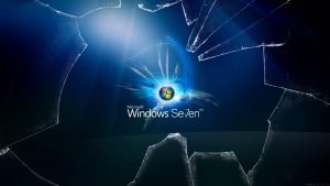 Broken Screen Wallpaper 6 of 49 - Animated Broken Glass Monitor with Windows 7