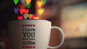 Attachment for 37 Cute Stuff Wallpapers - Love in Cup Coffee