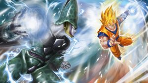 Attachment for Dragon Ball Z Wallpaper 17 of 49 - Son Goku and Cell