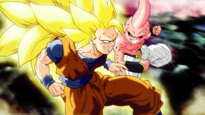 Attachment for Dragon Ball Z Wallpaper 26 of 49 - Son Goku VS Majin Boo