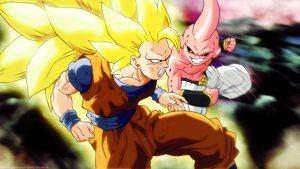 Attachment for Dragon Ball Z Wallpaper 26 of 49 - Son Goku VS Majin Boo
