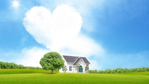 Attachment for Heart Shaped Cloud 16 of 57 - love cloud and house