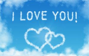 Attachment of Animated Heart Shaped Cloud 23 of 57 with I Love You