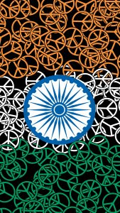File to download for India Flag for Mobile Phone Wallpaper 5 of 17 - Abstract Flag with Peace Symbol