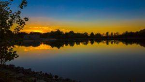 Sunset in Silver Lake Staten Island New York