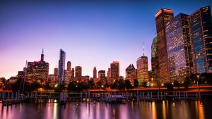 HD Wallpapers with Chicago City at Night