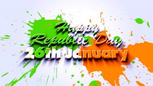 Free Download of Republic Day 2017, 2018, 2019, 2020 Wallpaper with Abstract Tricolor