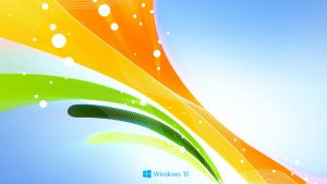 Abstract Windows 10 background - Indian Flag Colors