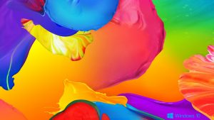 Abstract Windows 10 Background - Colorful Painting