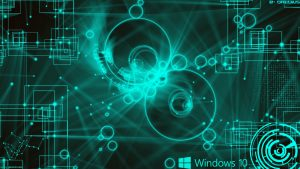 Abstract Windows 10 Background and Logo with 2D Geometry