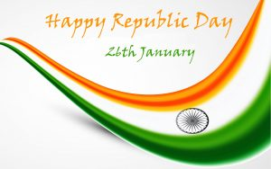 High Resolution Happy Republic Day Background with Tiranga Wallpaper