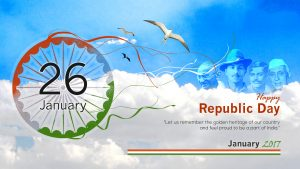 Republic Day 2017, 2018, 2019, 2020 Background with four Indian Greats Patriots