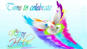Free Download Image of Holi with Artistic Decoration in 1920x1080