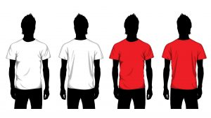 Blank tshirt template for students