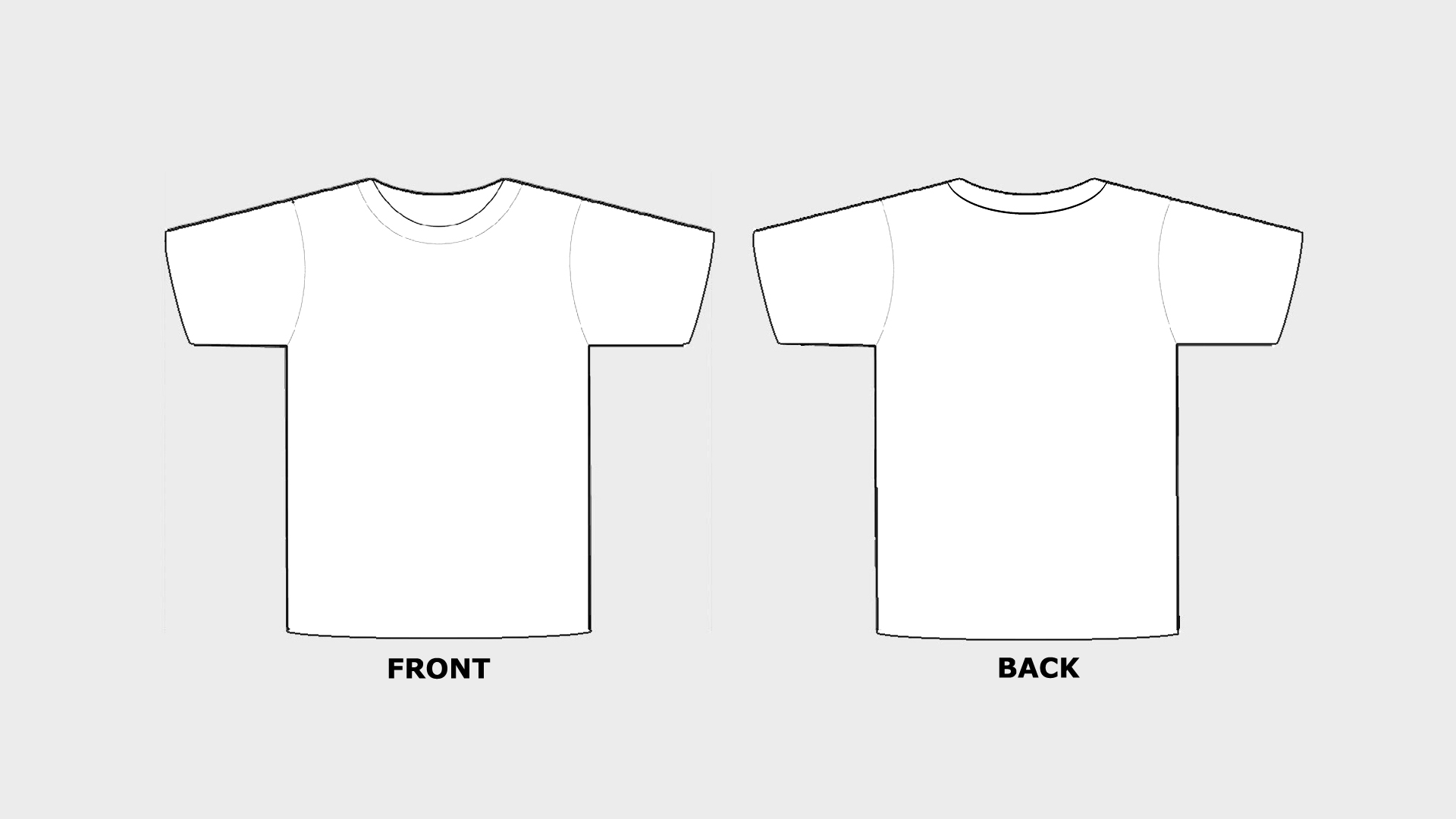 Blank Tshirt Template Printable In Hd