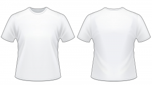 Blank tshirt template worksheet