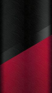 Dark S7 Edge Wallpaper 05 with Black and Red Leather Pattern