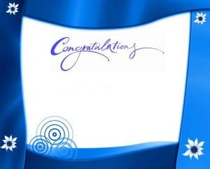 Congratulations Picture Frames with Blue Borders