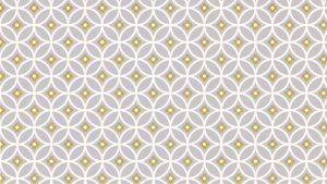 Mustard Color Wallpaper 08 0f 10 with White Grey Mustard Circles Pattern