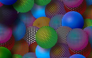 3D Neon Balls 2560x1600 for Samsung Galaxy Note Pro 12.2 wallpaper