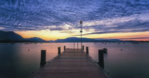 Beautiful Nature Wallpaper Big Size #16 with Long Exposure Pier on River Photo