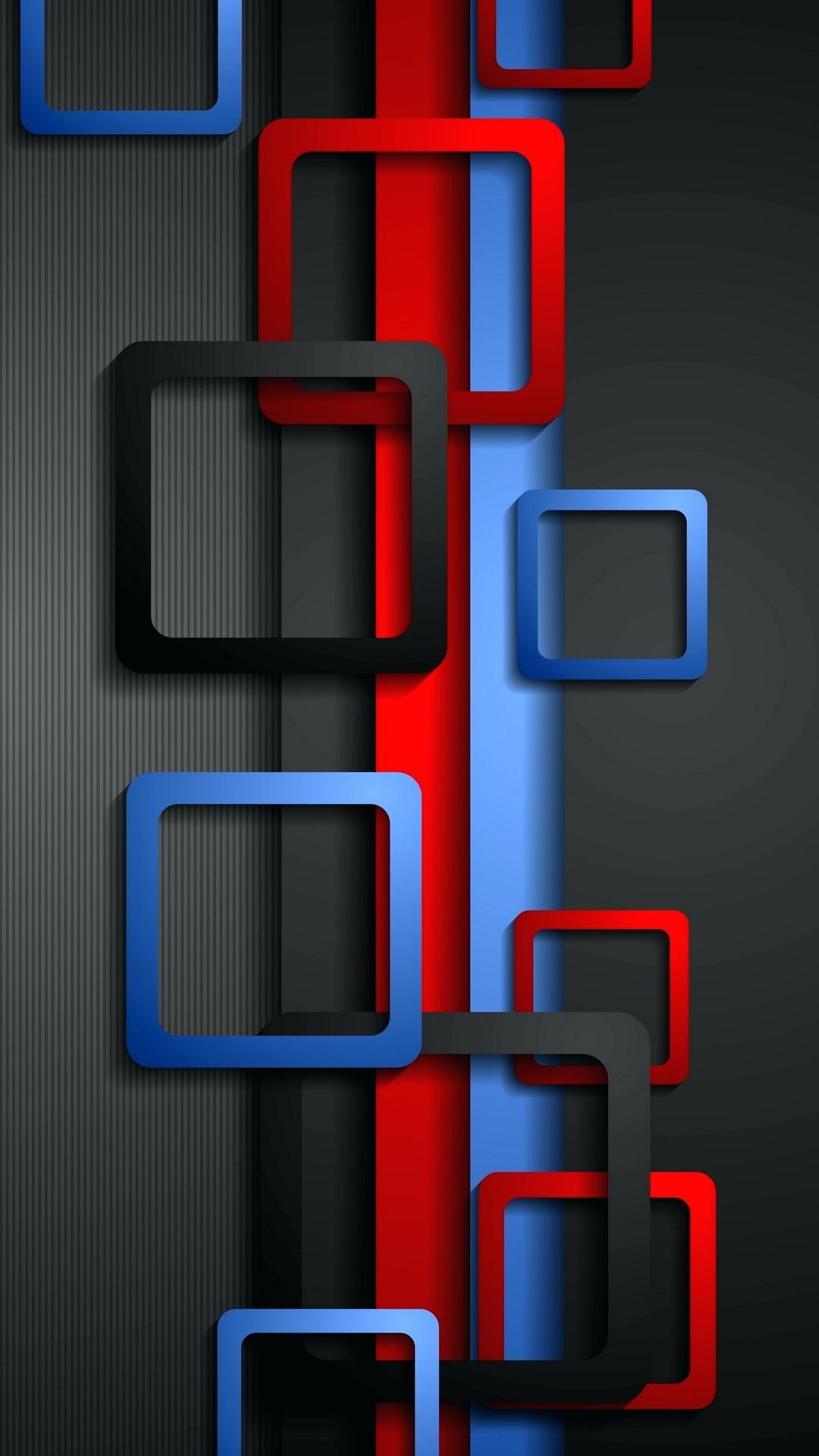 Wallpaper Full HD for Mobile with Red Blue and Black