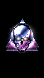 Badass Wallpapers For Android 23 0f 40 - Animated Skull and Triangles