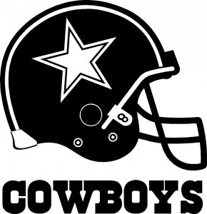 Dallas Cowboys Logo Wallpaper in Black and White with Helmet