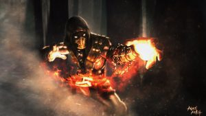 Cool Pictures Of Scorpion From Mortal Kombat by Andre Aroxa