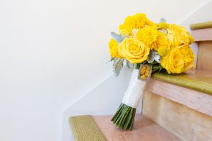 Flower Arrangements With Roses And Marigold