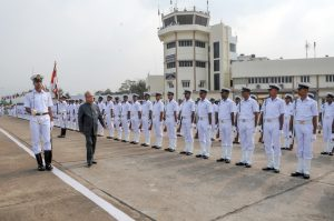 Indian Navy Wallpaper - Honorable President's Departure
