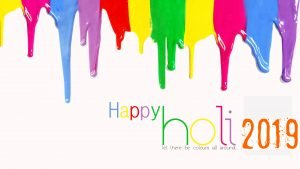 Colorful Background for Happy Holi 2019 Wallpaper