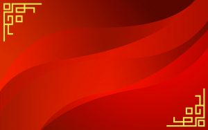 Red Chinese Wallpaper Designs 17 of 20 with Abstract Waves and Oriental Borders