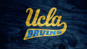 UCLA Bruins Wallpaper with Wood Pattern Background