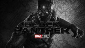Black Panther Wallpaper with Marvel Studios Logo