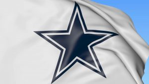 Dallas Cowboys Logo Wallpaper on Fluttering White Flag