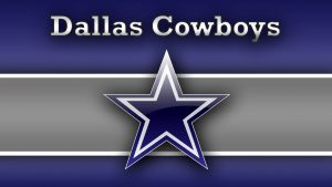 Dallas Cowboys Logo Wallpaper with Navy Silver White Background