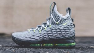LeBron James Shoes Wallpaper with Nike LeBron 15 Neon