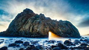 Natural Images HD 1080p Download with Keyhole Arch at Pfeiffer Beach