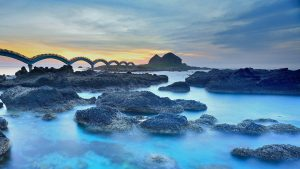 Natural Images HD 1080p Download with Sanxiantai Dragon Bridge in Taiwan