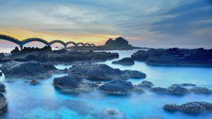 Natural Images HD 1080p Download with Sanxiantai Dragon Bridge in Taiwan
