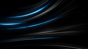 4K Black Wallpapers for Windows 10 - #03 of 10 - Dark Background with Silver Blue Lights