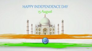 Happy Independence Day Background with Taj Mahal