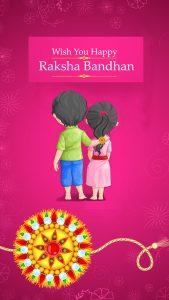 Happy Raksha Bandhan Wish Card for Sibling