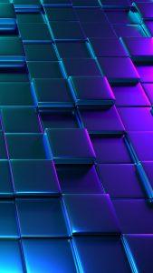 3D Block Patterns Wallpaper for Smartphone Screen