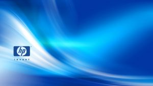 Windows 10 OEM Wallpaper for HP Laptops 07 0f 10 - HP Invent Logo with Abstract Blue Background